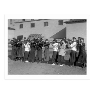 Girls Rifle Team, 1916 Postcard