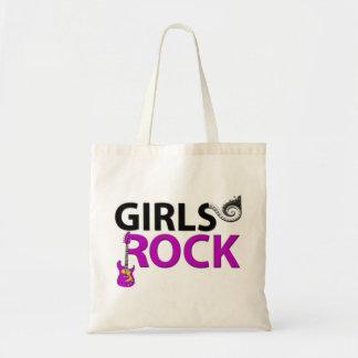 Girls Rock Guitar Piano Keys & Music Tote Bag