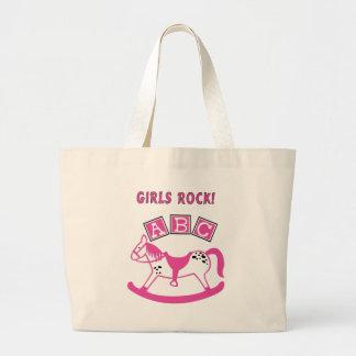 Girls Rock Large Tote Bag