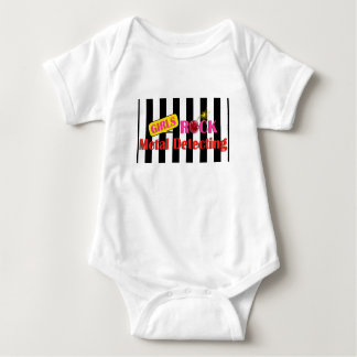 Girls Rock Metal Detecting Baby Outfit Baby Bodysuit