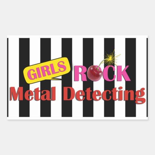 Girls Rock Metal Detecting Sticker