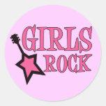 Girls Rock! Round Sticker
