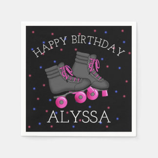 Girl's Roller Skate Birthday Napkin