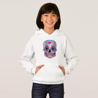 Girls Rose Candy Skull Hoodie