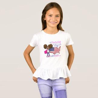 Girls Ruffle Future President T-Shirt