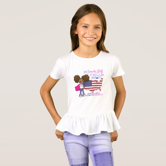 Girls Ruffle Future President T-Shirt