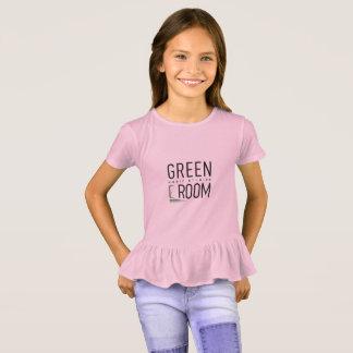 Girls Ruffle Green Room Shirt for Pianists