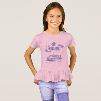 Girl's Ruffle Strong Mind Strong Body Tee