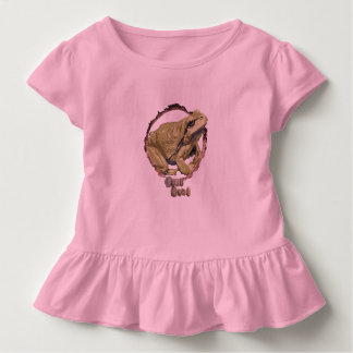 Girls ruffled frog top. toddler t-shirt