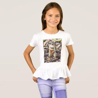 "Girl's Ruffled Tee Shirt ""Little Mikey"""
