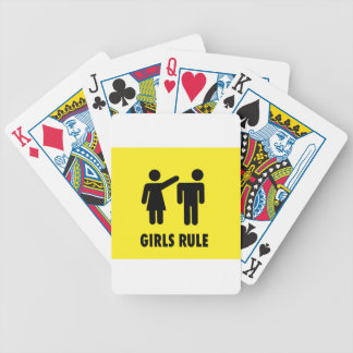 Girls rule bicycle playing cards