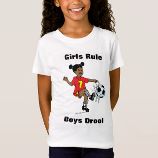 Girls Rule, Boys Drool Girls T-Shirt