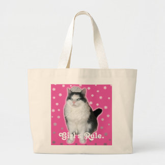 """Girl's Rule"" Cat Tiara Tote"