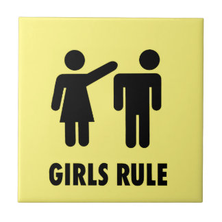 Girls rule ceramic tile