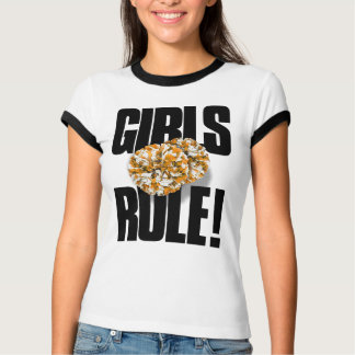 GIRLS RULE! Cheerleading T-Shirt