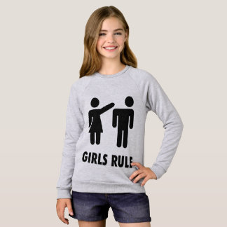 GIRLS RULE funny Girls Kids T-shirts