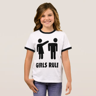 GIRLS RULE funny Kids T-shirts