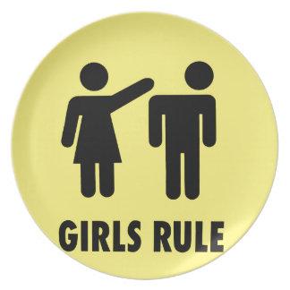Girls rule plate