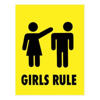 Girls rule postcard