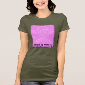 Girls Rule Skull & Cross Bones T-Shirt
