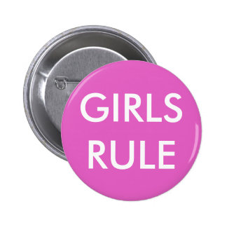 GIRLS RULE Standard Round Button