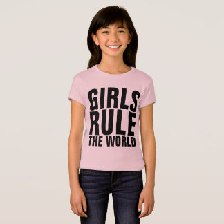 GIRLS RULE THE WORLD Kids t-shirts
