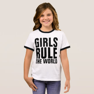GIRLS RULE THE WORLD Kids t-shirts