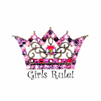 Girls Rule! Tiara sculpture Standing Photo Sculpture