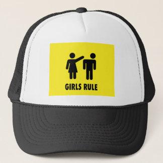 Girls rule trucker hat