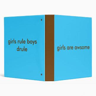 girls rule vinyl binder