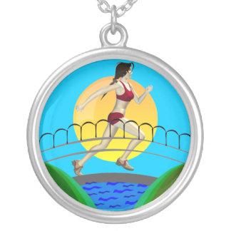 Girls Running Necklace