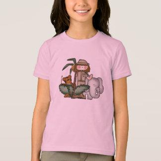 Girls Safari Animals T-Shirt