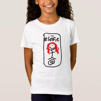 Girls' Selfie American Apparel Cap Sleeve T-Shirt