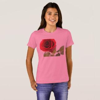 girl's short sleeve t-shirt - pink