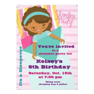 Girls Sleepover Pajama Slumber Party Invitation