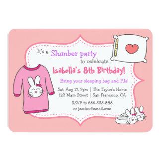 Girls Slumber Birthday Party, Sleepover Pyjama Personalized Invitation