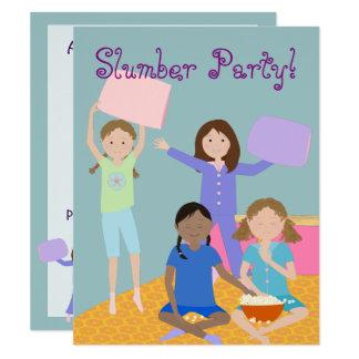 "Girls Slumber Party 4.25"" X 5.5"" Invitation Card"