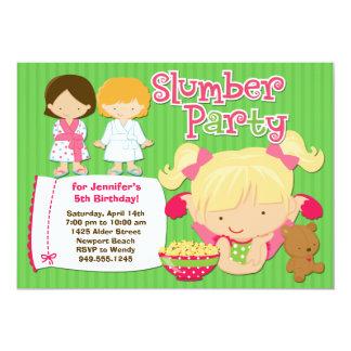 Girls Slumber Party Birthday Invitation