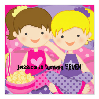 Girls Slumber Party Birthday Invitation