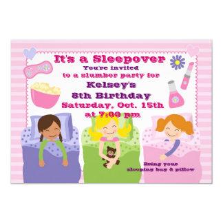 "Girls Slumber Party Sleepover Pajama Invitation 5"" X 7"" Invitation Card"