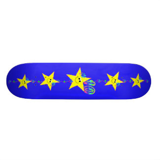 Girl's Smiley Stars Number 10 Skateboard