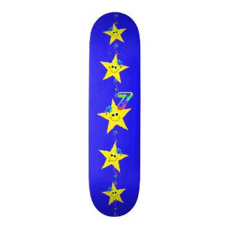 Girl's Smiley Stars Number 7 Skateboard