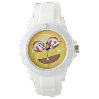 girls' smiley volleyball eyes emoji watch