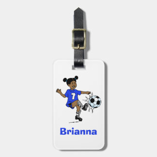 Girls Soccer Personalized Photo Template Luggage Tag