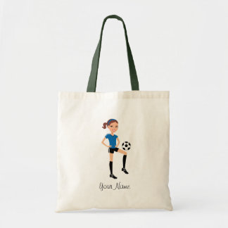 Girl's Soccer Player Personalized Tote Bag