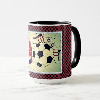Girls Soccer Stamp Mug