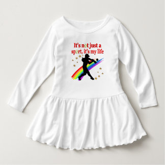 GIRLS SOFTBALL RED RAINBOW INSPIRATIONAL DESIGN DRESS