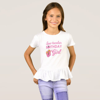 Girl's Spa Birthday Party T-Shirt