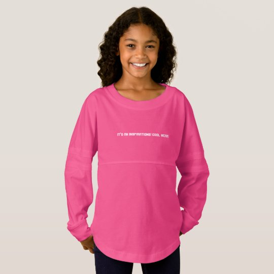 Girls spirit jersey shirt