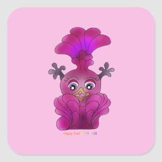 "Girl's Sticker ""Lila"" square"